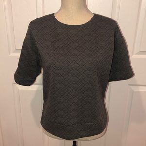 Quilted roll sleeve top